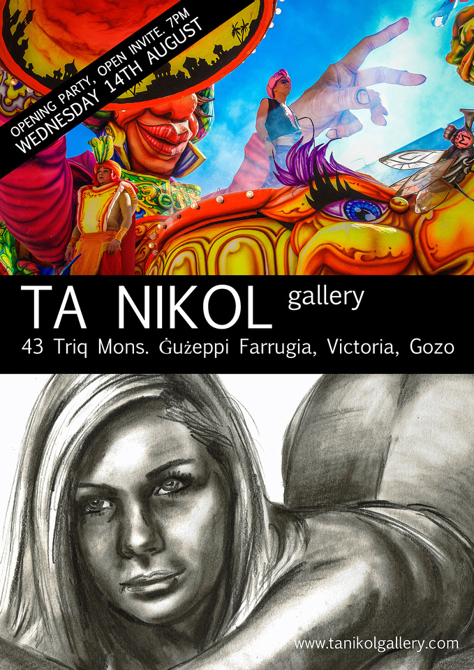 Opening party of Ta Nikol Gallery in Victoria on Gozo, Malta